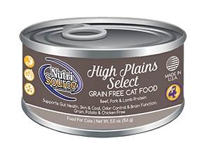 NutriSource NutriSource Grain Free High Plains Select Beef, Pork & Lamb Wet Cat Food 5.5oz