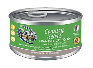 NutriSource NutriSource Grain Free Country Select Duck, Turkey & Quail Wet Cat Food 5.5oz
