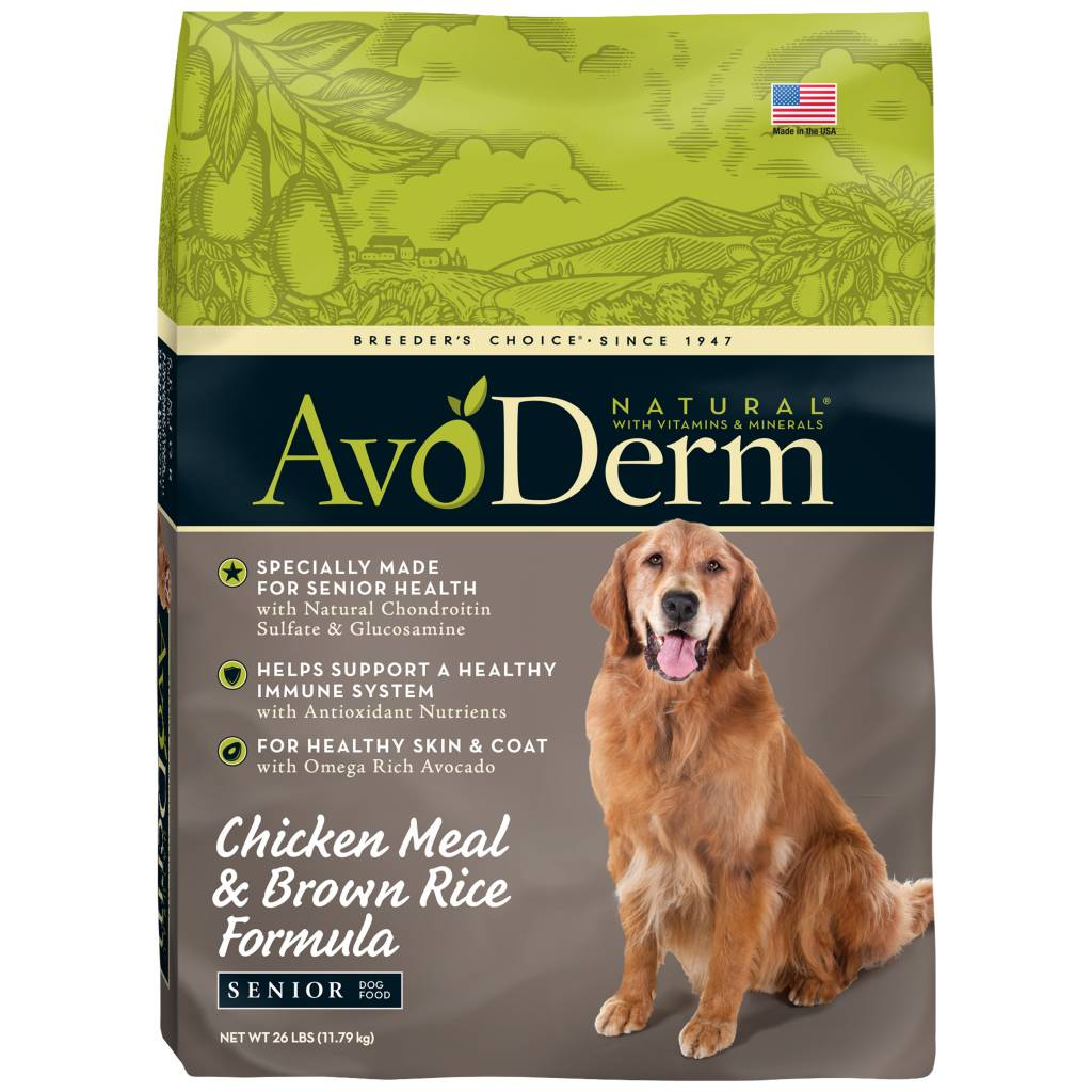 AvoDerm AvoDerm Senior Chicken Meal & Brown Rice Dry Dog Food