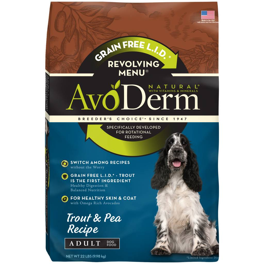 AvoDerm AvoDerm Revolving Menu Trout & Pea Dry Dog Food