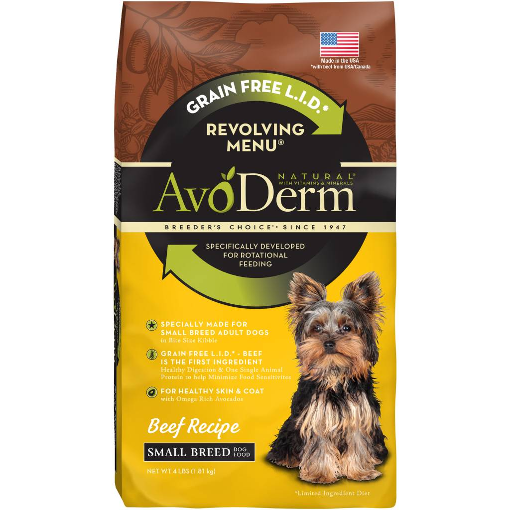 AvoDerm AvoDerm Revolving Menu Small Breed Beef Dry Dog Food