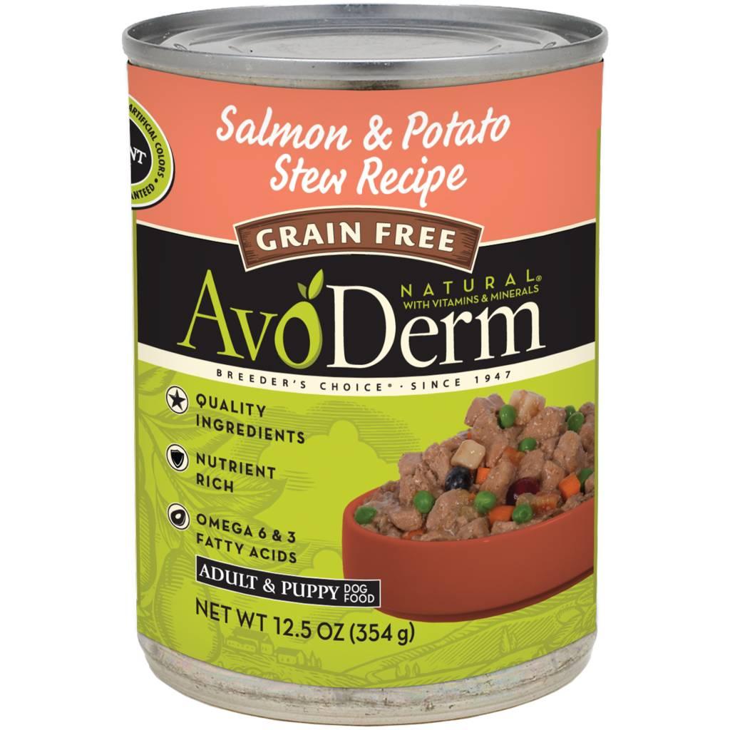AvoDerm AvoDerm Salmon & Potato Stew Wet Dog Food 12.5oz
