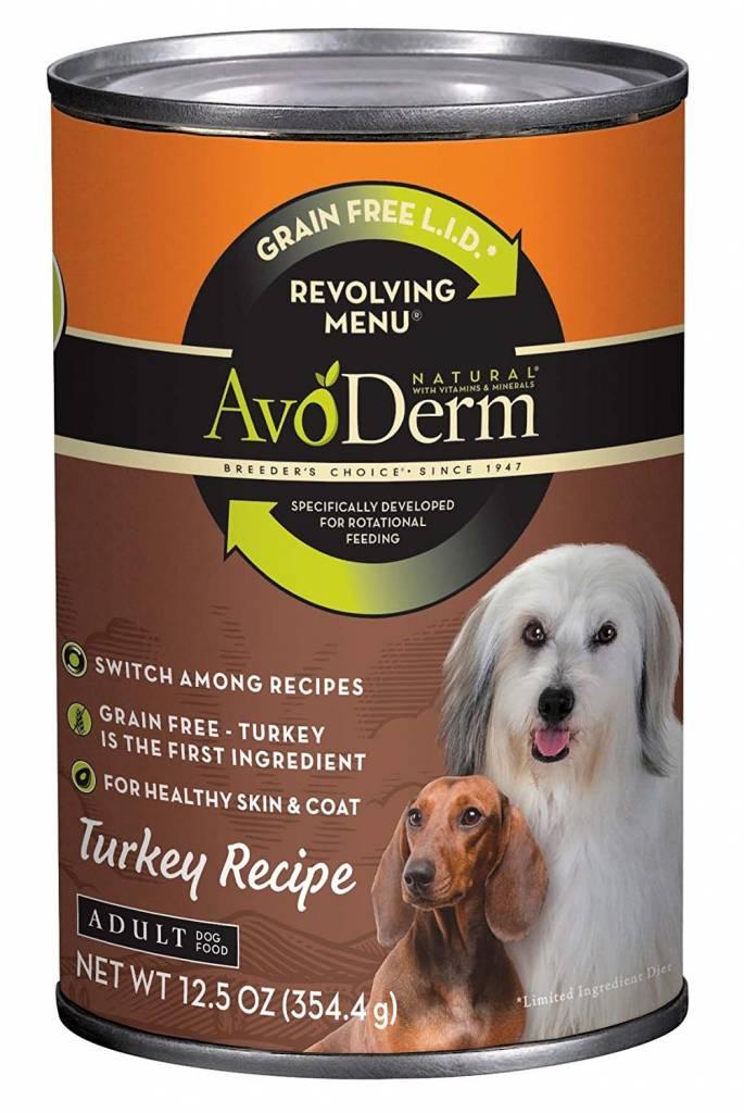 AvoDerm AvoDerm Revolving Menu Turkey Wet Dog Food 12.5oz