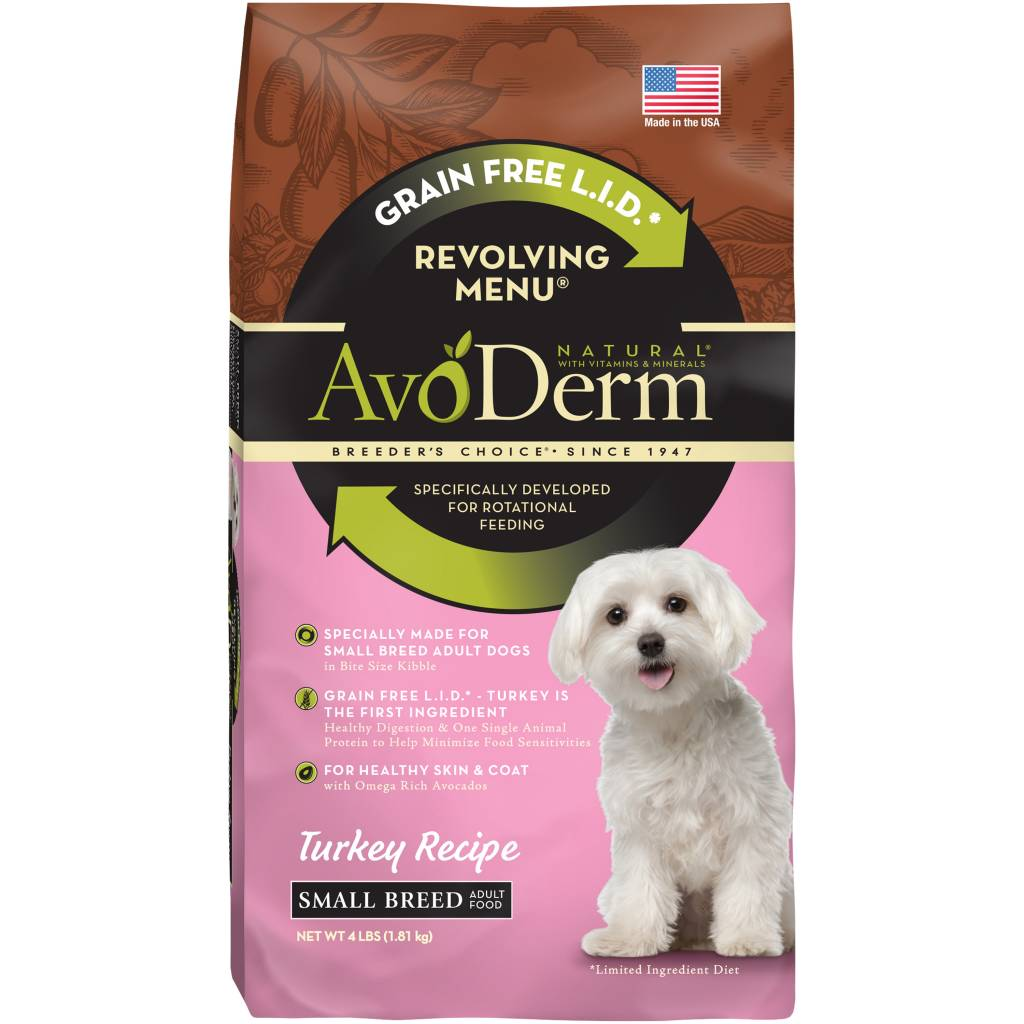 AvoDerm AvoDerm Revolving Menu Small Breed Turkey Dry Dog Food 4#