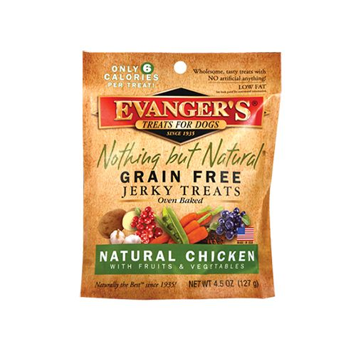 Evanger's Evanger's Nothing But Natural Chicken Jerky Dog Treats 4.5oz