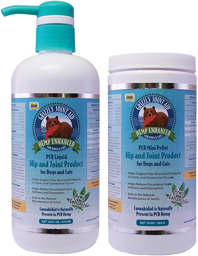 Grizzly Grizzly Hemp Enhanced Hip & Joint Liquid Cat & Dog Supplement 16oz