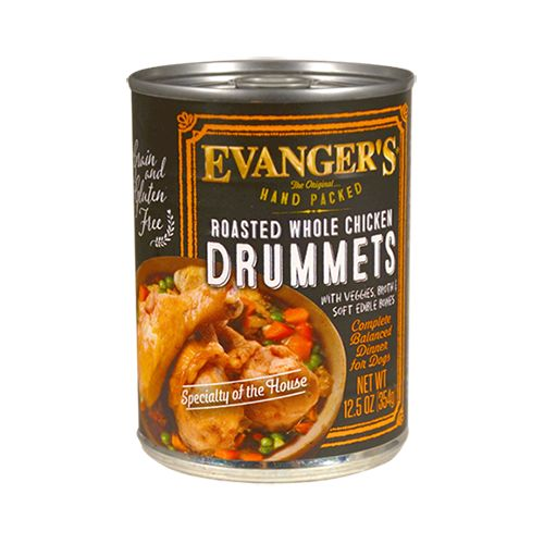 Evanger's Evanger's Hand Packed Roasted Whole Chicken Drummets Wet Dog Food 13oz