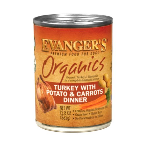 Evanger's Evanger's Organic Turkey with Potato & Carrots Dinner Wet Dog Food 13oz