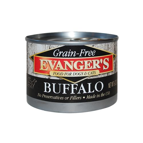 Evanger's Evanger's 100% Buffalo Wet Cat & Dog Food 6oz