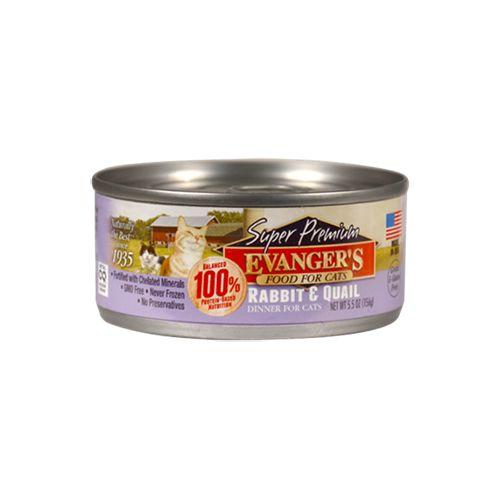 Evanger's Evanger's Super Premium Rabbit & Quail Dinner Wet Cat Food 5.5oz