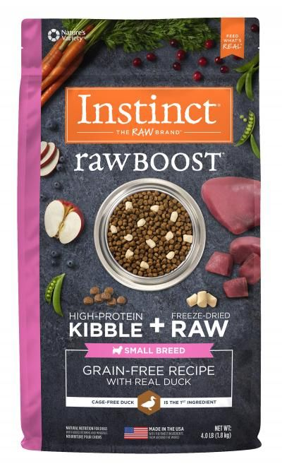 Nature's Variety Nature's Variety Instinct Raw Boost Small Breed Duck Dry Dog Food 4#