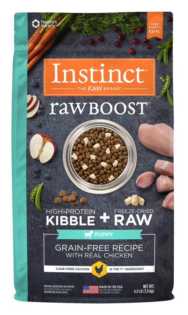 Nature's Variety Nature's Variety Instinct Raw Boost Puppy Chicken Dry Dog Food 4#