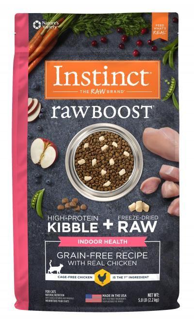 Instinct Instinct Raw Boost Grain Free Indoor Health Chicken Dry Cat Food 5#