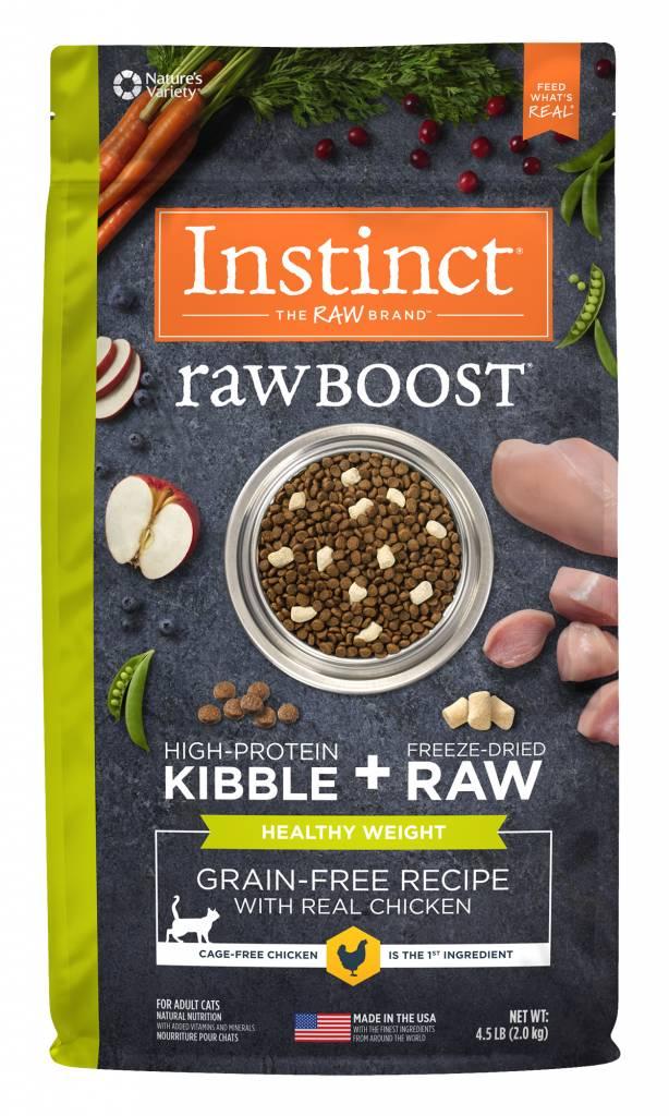 Instinct Instinct Raw Boost Grain Free Healthy Weight Chicken Dry Cat Food 4.5#