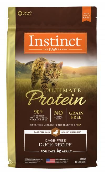 Instinct Instinct Ultimate Protein Duck Dry Cat Food 4#