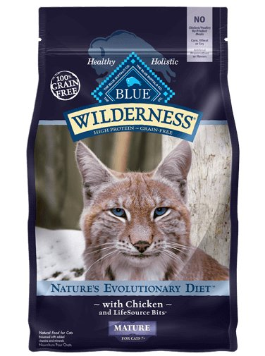 Blue Buffalo Blue Buffalo Wilderness Mature Chicken Dry Cat Food 5#