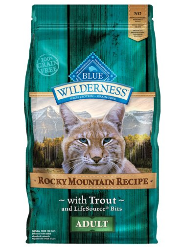 Blue Buffalo Blue Buffalo Wilderness Rocky Mountain Trout Dry Cat Food 4#