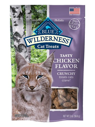 Blue Buffalo Blue Buffalo Wilderness Crunchy Chicken Cat Treats 2oz