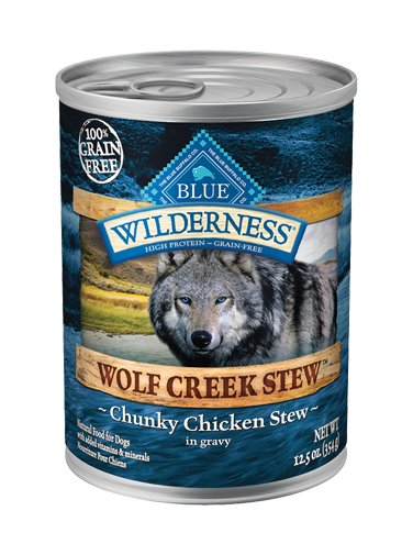 Blue Buffalo Blue Buffalo Wilderness Wolf Creek Stew Chunky Chicken Wet Dog Food 12.5oz