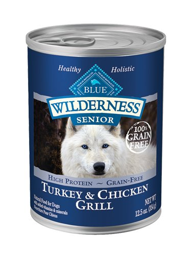 Blue Buffalo Blue Buffalo Wilderness Senior Turkey & Chicken Wet Dog Food 12.5oz