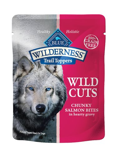 Blue Buffalo Blue Buffalo Wilderness Trail Toppers Wild Cuts Chunky Salmon Bites Wet Dog Food 3oz