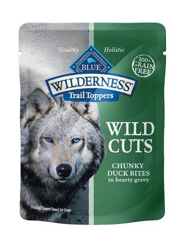 Blue Buffalo Blue Buffalo Wilderness Trail Toppers Wild Cuts Chunky Duck Bites Wet Dog Food 3oz