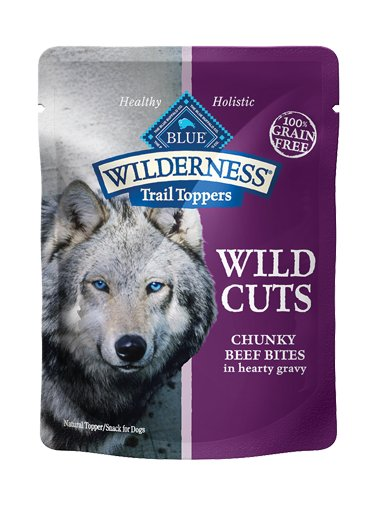 Blue Buffalo Blue Buffalo Wilderness Trail Toppers Wild Cuts Chunky Beef Bites Wet Dog Food 3oz
