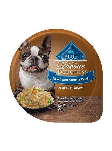 Blue Buffalo Blue Buffalo Divine Delights New York Strip in Hearty Gravy Wet Dog Food 3.5oz