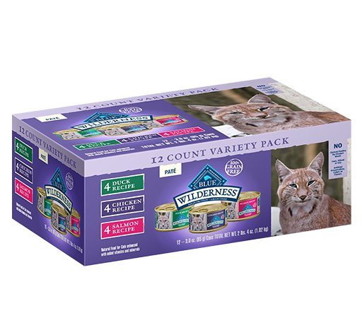 Blue Buffalo Blue Buffalo Wilderness Variety Pack Wet Cat Food 12ct