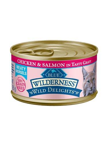 Blue Buffalo Blue Buffalo Wilderness Wild Delights Meaty Morsels Chicken & Salmon Wet Cat Food 3oz
