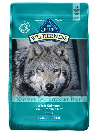 Blue Buffalo Blue Buffalo Wilderness Large Breed Salmon Dry Dog Food 24#