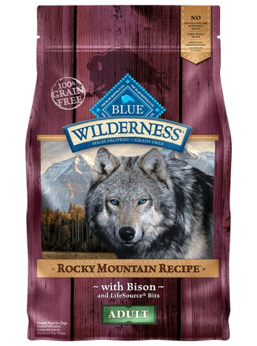 Blue Buffalo Blue Buffalo Wilderness Rocky Mountain Bison Dry Dog Food 22#
