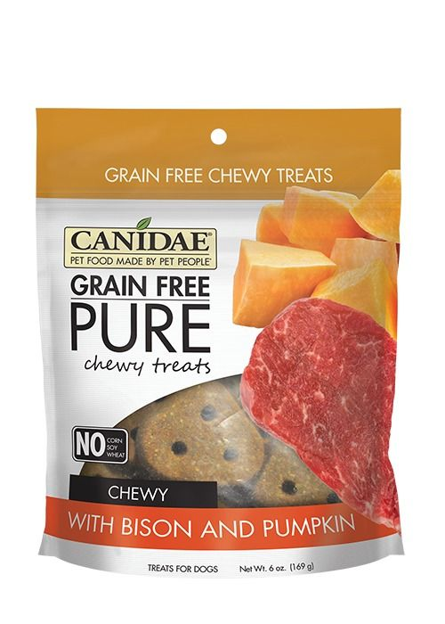 Canidae Canidae Grain Free Pure Chewy Bison & Pumpkin Dog Treats 6oz