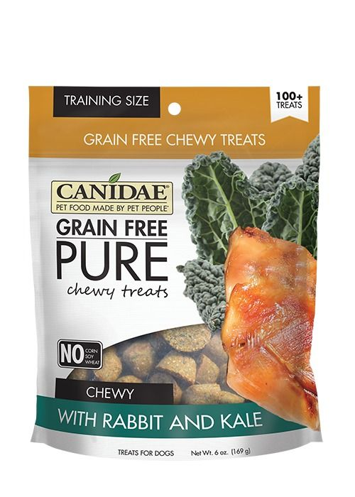 Canidae Canidae Grain Free Pure Chewy Rabbit & Kale Dog Treats 6oz