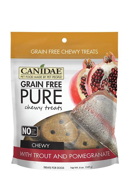 Canidae Canidae Grain Free Pure Chewy Trout & Pomegranate Dog Treats 6oz