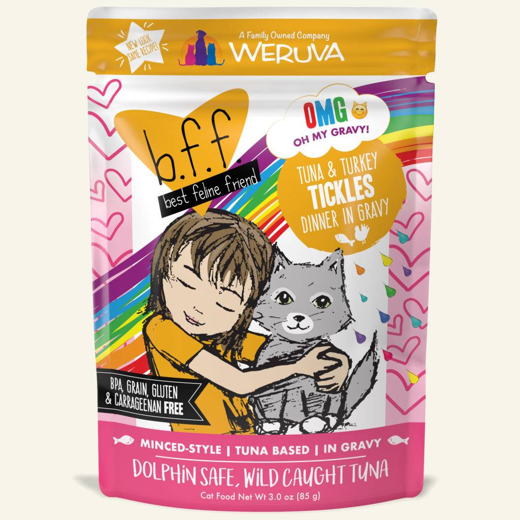 Weruva Weruva BFF OMG Tuna & Turkey Tickles Wet Cat Food Pouch 3oz