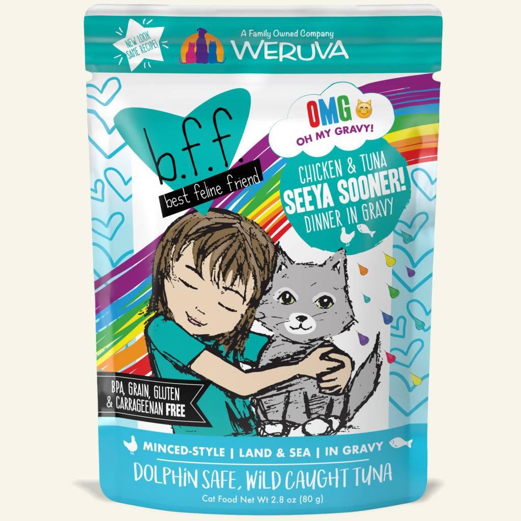 Weruva Weruva BFF OMG Chicken & Tuna Seeya Sooner! Wet Cat Food Pouch 2.8oz