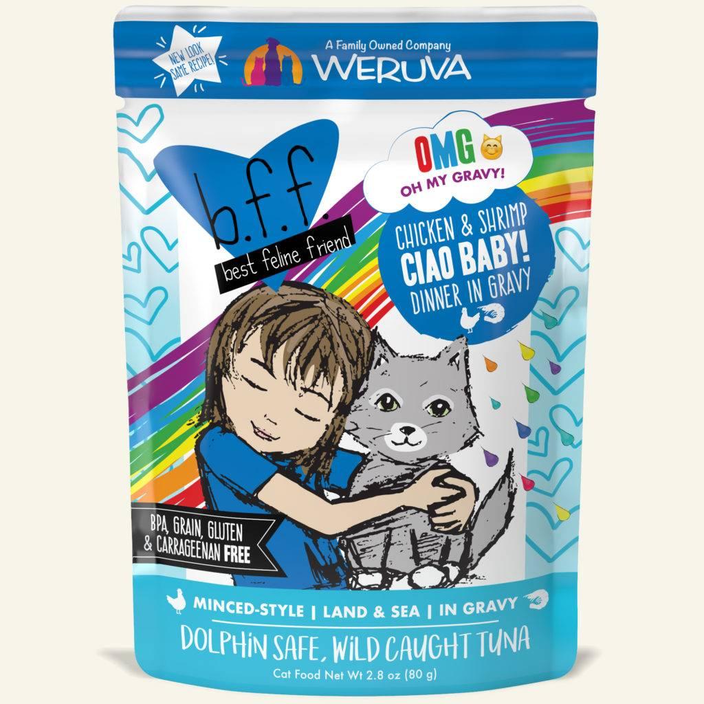 Weruva Weruva BFF OMG Chicken & Shrimp Ciao Baby! Wet Cat Food Pouch 2.8oz