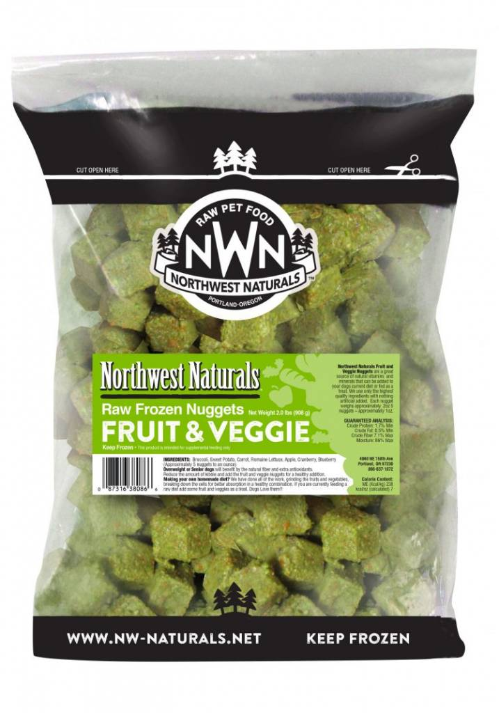 Northwest Naturals Northwest Naturals Raw Nuggets Fruit & Veggie Dog Food 6#