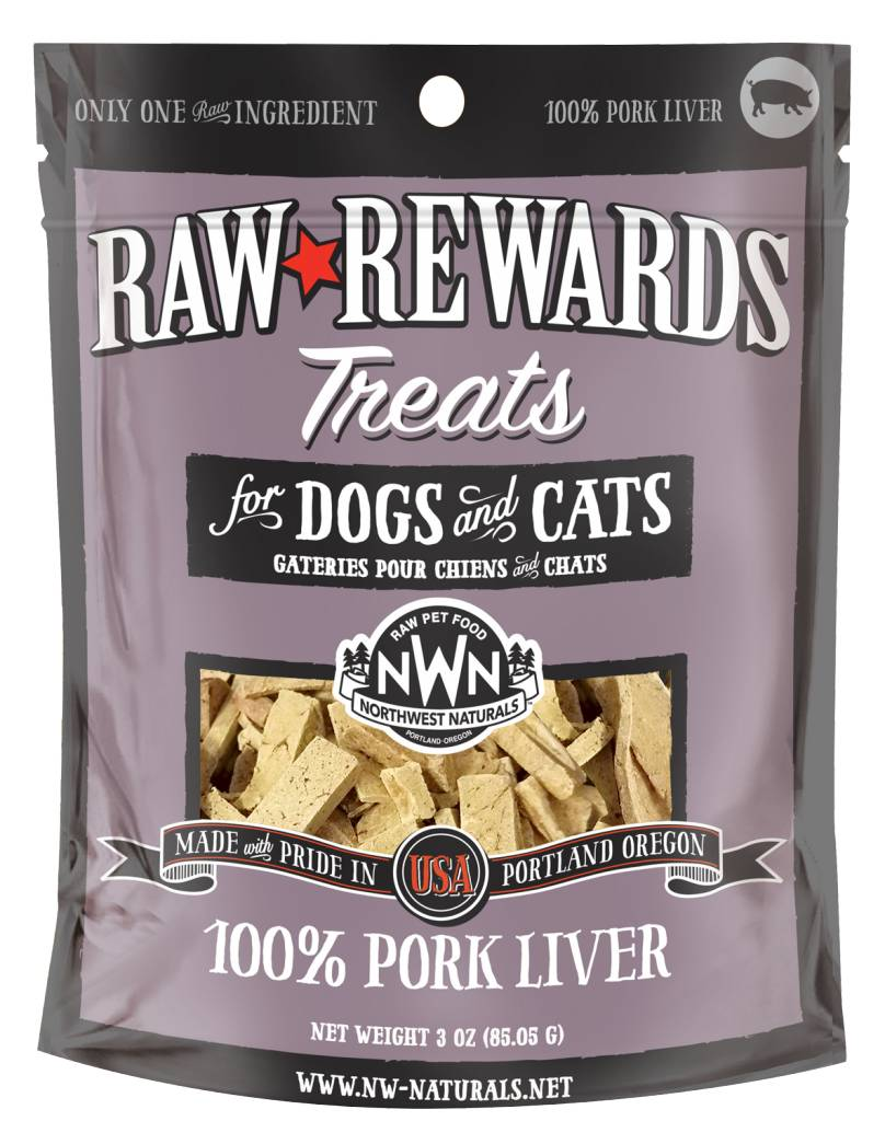 Northwest Naturals Northwest Naturals Raw Rewards Freeze Dried Pork Liver Cat & Dog Treats 3oz