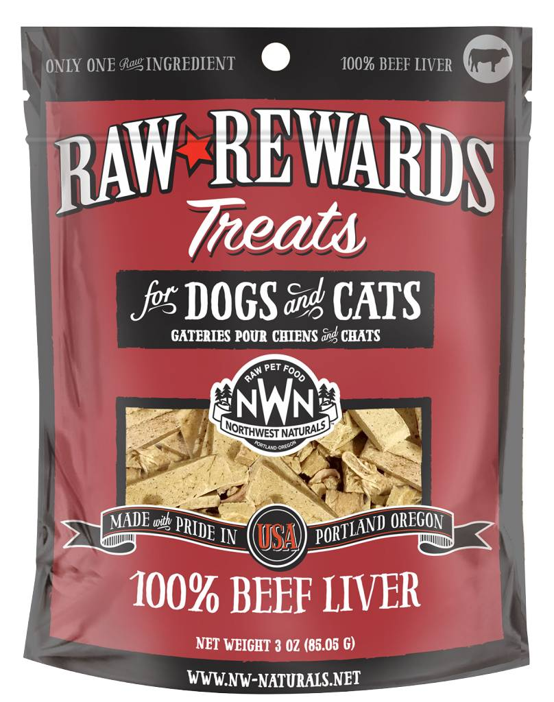 Northwest Naturals Northwest Naturals Raw Rewards Freeze Dried Beef Liver Cat & Dog Treats 3oz