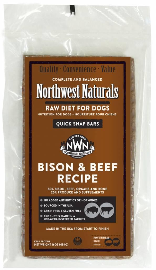 Northwest Naturals Northwest Naturals Raw Dinner Bars Bison & Beef Dog Food 1#