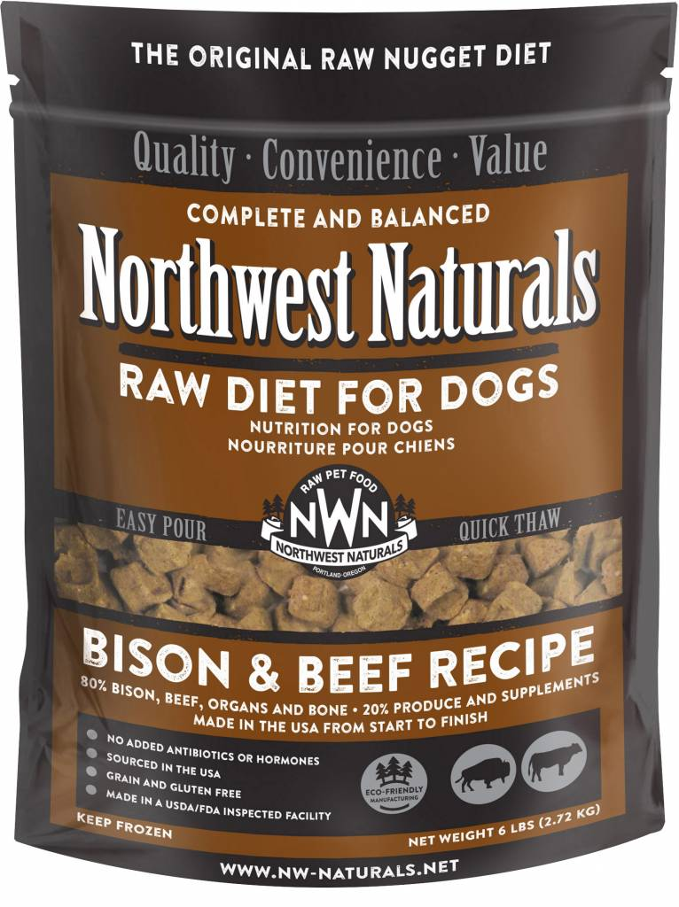 Northwest Naturals Northwest Naturals Nuggets Bison & Beef Raw Dog Food 6#