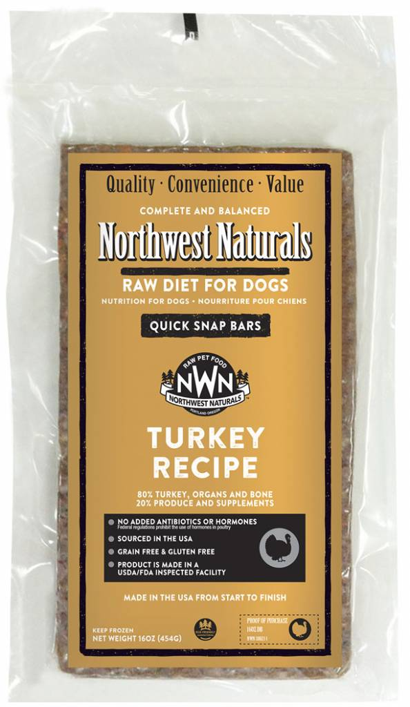 Northwest Naturals Northwest Naturals Dinner Bars Turkey Raw Dog Food