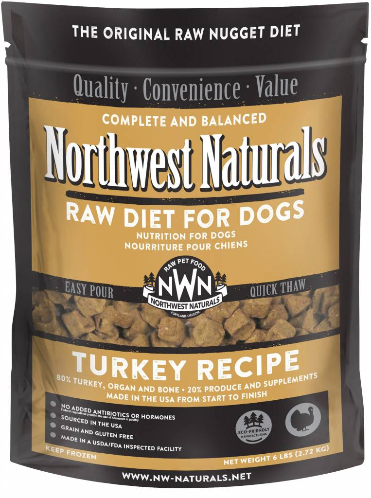 Northwest Naturals Northwest Naturals Nuggets Turkey Raw Dog Food 6#