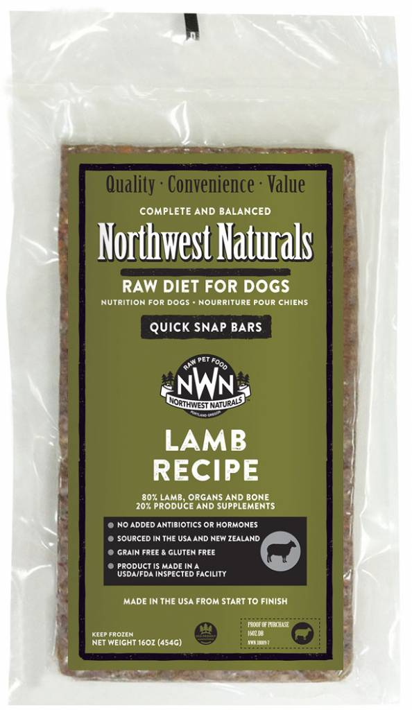 Northwest Naturals Northwest Naturals Raw Dinner Bars Lamb Dog Food