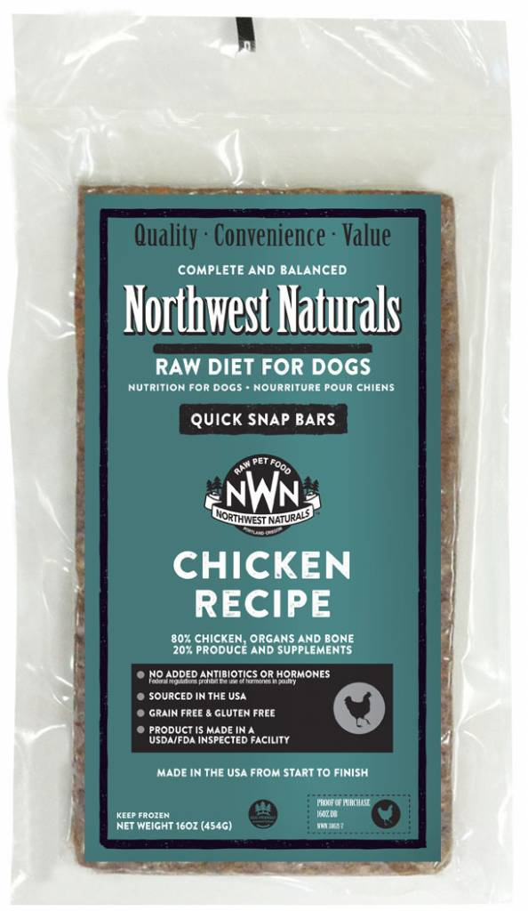 Northwest Naturals Northwest Naturals Dinner Bars Chicken Raw Dog Food