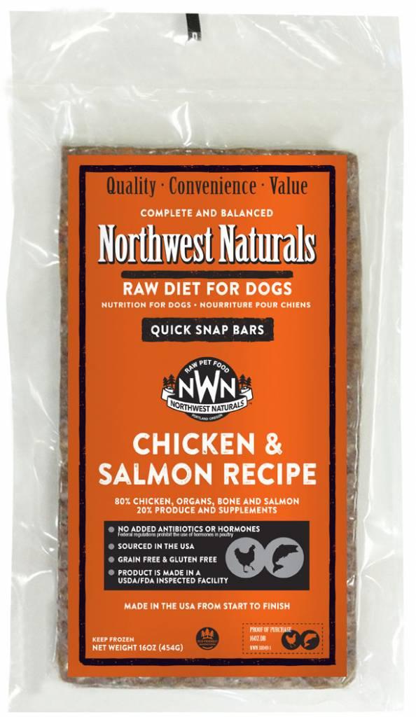 Northwest Naturals Northwest Naturals Dinner Bars Chicken & Salmon Raw Dog Food