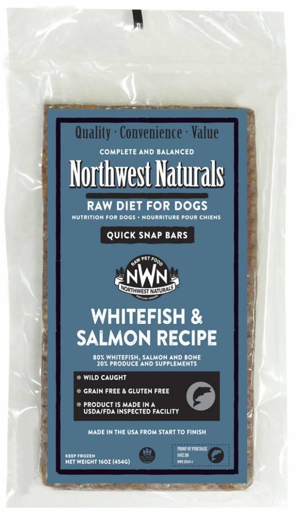 Northwest Naturals Northwest Naturals Dinner Bars Whitefish & Salmon Raw Dog Food 1#