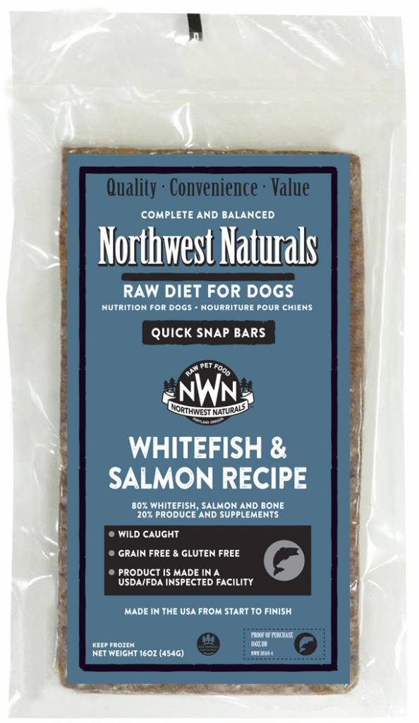 Northwest Naturals Northwest Naturals Raw Dinner Bars Whitefish & Salmon Dog Food 1#
